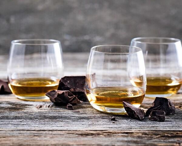 whiskeys en chocolade